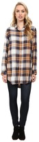 Jag Jeans Magnolia Tunic Rayon Yd Plaid in Camel