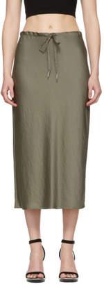 Alexander Wang Khaki Wash and Go Light Skirt