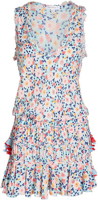 Poupette St Barth Soledad Floral Print Mini Dress