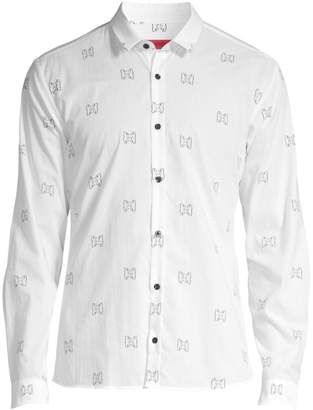 HUGO Ero Relax-Fit Bear Print Shirt