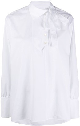 Ports 1961 Pussy Bow Cotton Blouse