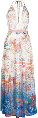 Missoni Mare Beach-Print Halterneck Midi Dress
