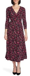 Chaus Meadow Garden Wrap Midi Dress