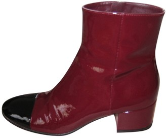 Gianvito Rossi Burgundy Patent leather Ankle boots