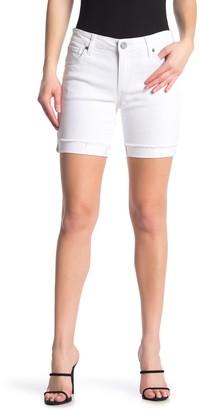 KUT from the Kloth Katy Solid Denim Boyfriend Bermuda Shorts