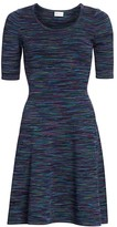Milly Spacedye Fit-&-Flare Dress