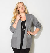 Avenue Ribbed Trim Cardigan