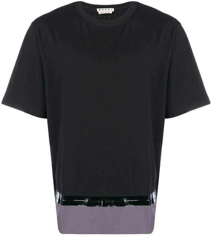 Marni patched hem T-shirt