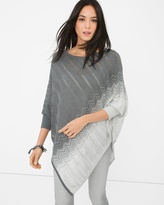 White House Black Market Zigzag-Detail Sweater Poncho