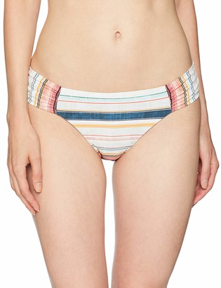 Lucky Brand Women's Side Shirred Hipster Bikini Swimsuit Bottom