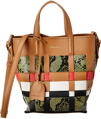 3.1 Phillip Lim Odita Mini Modern Lattice Leather Bucket Bag