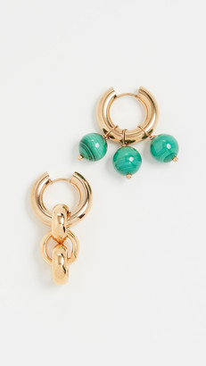 Timeless Pearly Gold and Green Hoops