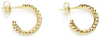 Agnes de Verneuil Tinny Silver Hoop Earrings Pearls Line - Gold