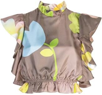 Cynthia Rowley ashley pop floral top