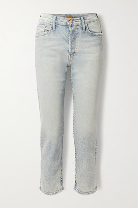 Mother The Tomcat High-rise Straight-leg Jeans - Light denim