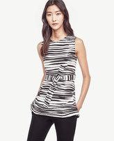 Ann Taylor Zebra Belted Shell