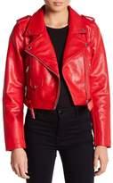 Sebby Metallic Moto Faux Leather Jacket