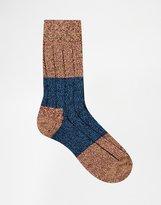 Happy Socks Wool Boot Socks - Red