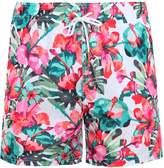 Lightweight Flower Print Swim Shorts