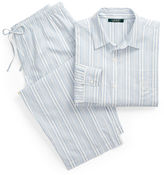 Ralph Lauren Striped Cotton Capri Sleep Set