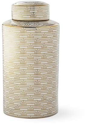 Williams-Sonoma Gold Printed Jar, Mosaic