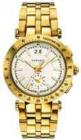 Versace Men's 'V-Race' Swiss Quartz Stainless Steel Casual Watch, Color:Gold-Toned (Model: VAH030016)