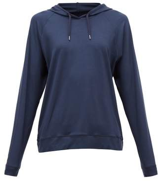 Derek Rose Basel Hooded Sweatshirt - Womens - Navy