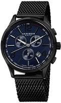 Akribos XXIV Men's AK719BU Ultimate Black Stainless Steel Watch