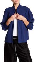 DKNY Long Sleeve Linen Blend Jacket