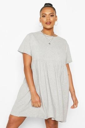 boohoo Plus Basic Smock Dress