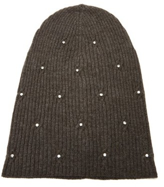 MARC JACOBS, RUNWAY Marc Jacobs Runway - Crystal-embellished Wool-blend Beanie Hat - Brown