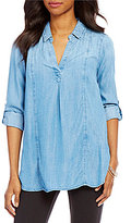 Intro Seam Front Denim Lyocell Tunic