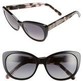 Burberry Women's 56Mm Cat Eye Sunglasses - Black