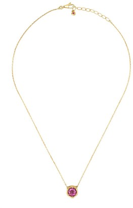 Gucci 18kt yellow gold Le Marché des Merveilles diamond, topaz and tourmaline pendant necklace