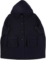Lanvin WOOL-BLEND MELTON CAPE COAT-NAVY SIZE 4
