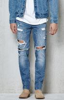 PacSun Slim Destroyed Medium Indigo Jeans