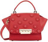Zac Posen Eartha Iconic Floral Applique Top Handle Bag