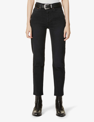 RE/DONE Stove Pipe slim high-rise jeans