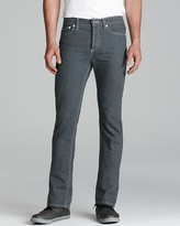 This is Not a Polo Shirt by Band of Outsiders Jeans - Classic Skinny Slim Fit in Grey Denim