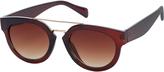 Accessorize Marina Double Bridge Preppy Sunglasses