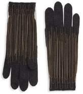 Brunello Cucinelli Chain Trim Cashmere Gloves