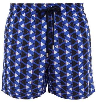 Vilebrequin Moorea Stingray Print Swim Shorts - Mens - Blue Multi