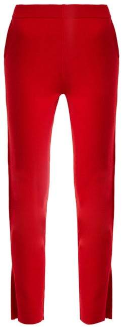 Allude Slit Cuff Cashmere Trousers - Womens - Red