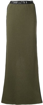Unravel Project Ribbed Knit Long Skirt
