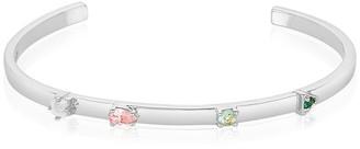 ADORNIA Rhodium Plated 1.50 Ct. Tw. Gemstone Cuff Bracelet