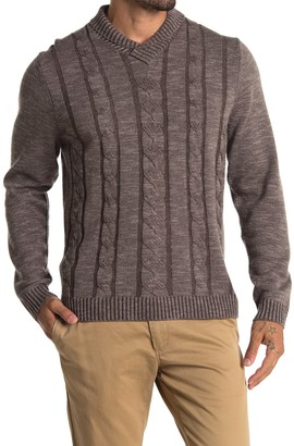 Tommy Bahama Pinyon Pines Cable Knit Wool & Cashmere Sweater