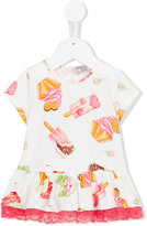 MonnaLisa ice cream dress - kids - Cotton/Spandex/Elastane - 6 mth