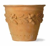 The Well Appointed House Oak Leaf Garden Planter in Faux Terracotta-Available in Three Different Sizes