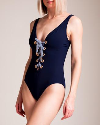 Karla Colletto Maritta V-Neck U-Wire Swimsuit