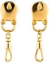Eddie Borgo Lock Drop Earrings